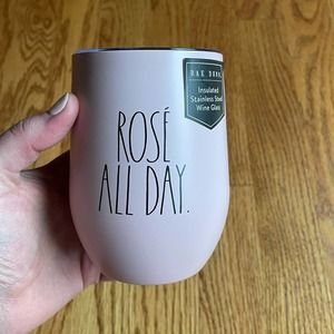 NWT Pink Rae Dunn Stainless Steel Wine Cup